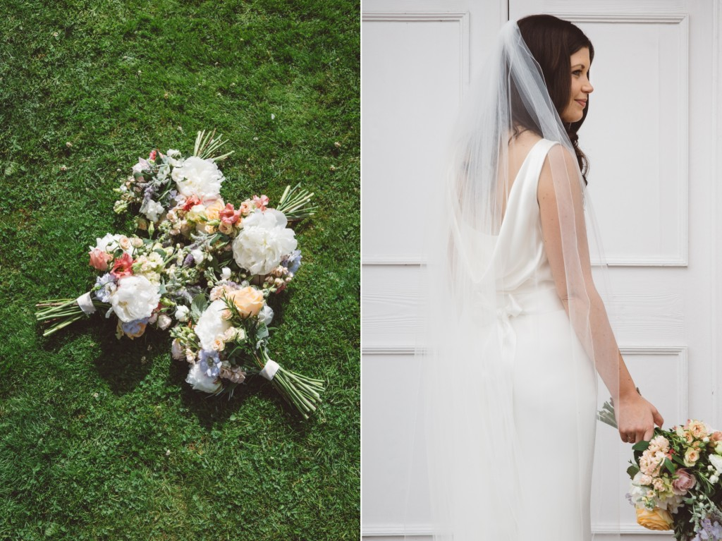 The Byre at Inchyra Photography wedding dress and flowers