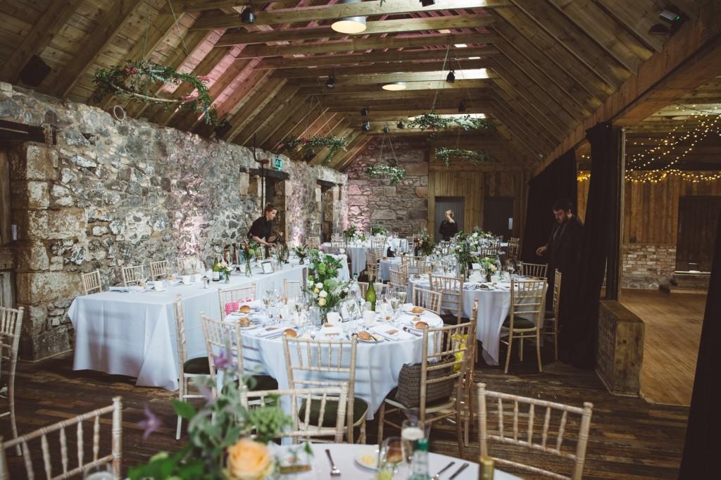 The Byre at Inchyra Barn interior floral